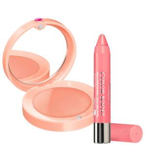 Bourjois Duo-Cream Blush Nude Velvet & Lip Boost Peach on the Beach