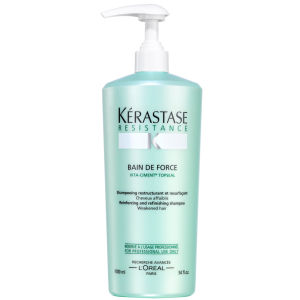 Kérastase Resistance Bain De Force Topseal (1000ml) with Pump
