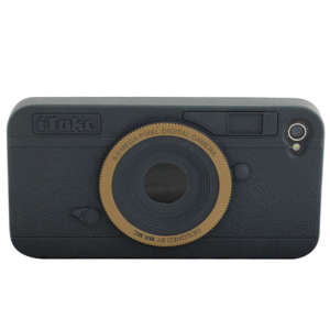 iTake Camera iPhone 4 Case - Black