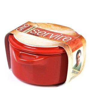 Gino DAcampo 10cm Round Casserole Dish - Red