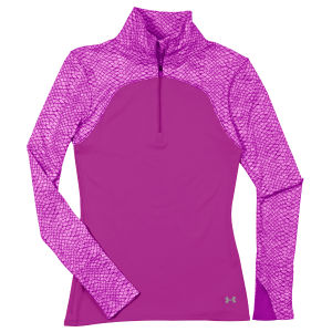 Under Armour Women's Printed Qualification Knit 1/4 Zip - Lilac/Reflective