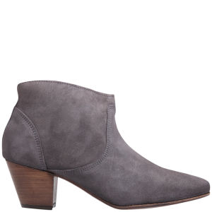 H by Hudson Women's Mirar Suede Heeled Ankle Boots - Grey