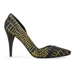 McQ Alexander McQueen Women's Lex Pump Leather Heels - Black Reptile