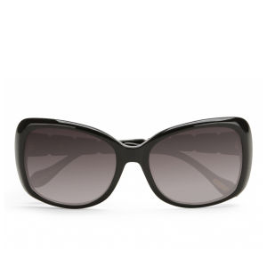 Vivienne Westwood Oversized Swarovski Temple Logo Sunglasses - Black