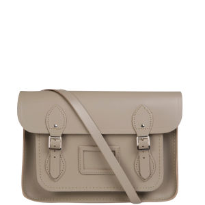 Cambridge Satchel Company 13 Inch Leather Satchel w/Multi Straps - Dune