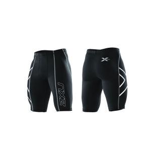 2XU Men's Compression Shorts - Black/Silver Logo