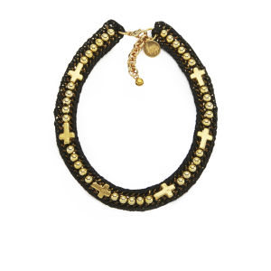 Venessa Arizaga Women's Into the Groove Necklace - Black/Gold