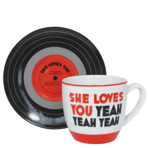 Lennon and McCartney Mug and Saucer Set - She Loves You