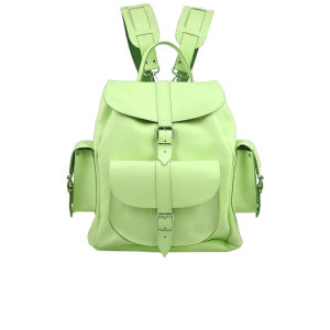 Grafea Mint Kiss Medium Leather Rucksack - Mint