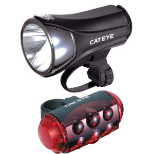 Cateye HL-EL530 TL-LD1100 Front and Rear Cycle Lightset