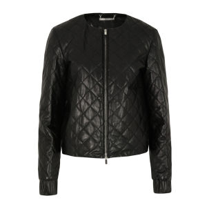 Diane von Furstenberg Women's Delilah Leather Jacket - Black