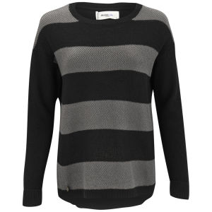 Vero Moda Women's Micki Stripe Jumper -  Black