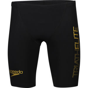 Speedo Men's Triathlon Racer Pro Shorts - Black/Retro Gold