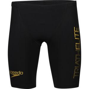 Speedo Men's Triathlon Racer Pro Shorts - Black/Retro Gold