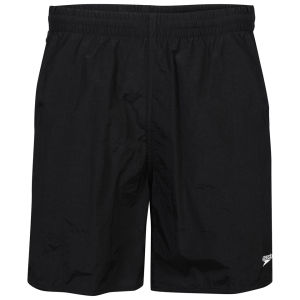 Speedo Men's Solid Leisure Shorts 16 Inch - Black