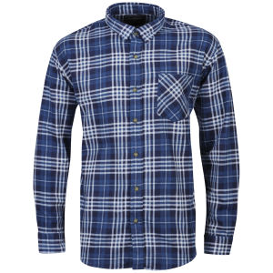 Brave Soul Men's Bate Long Sleeve Shirt - Navy