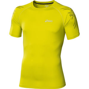 Asics Men's Tiger Running Top - Electric Lime