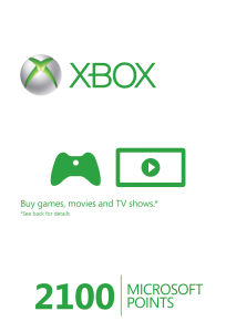 Xbox Live 2100 Points Card
