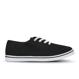 Love Sole Women's Classic Canvas Trainers - Black/White