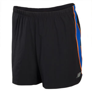 New Balance Men's Impact 5 Inch Track Shorts - Black/Cobalt