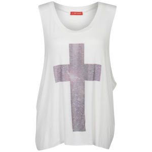 Influence Women's Cross Print Vest Top - White