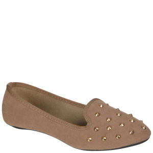 Odeon Women's Studded Slipper Shoes - Mink