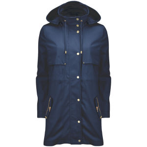 Vero Moda Women's Magnolia Hooded Parka Jacket - Black Iris