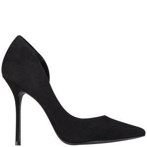 Kurt Geiger Women's Anja Suede Heeled Court Shoes - Black