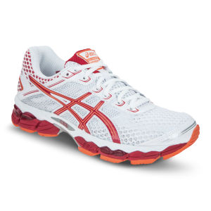 Asics Women's Gel-Cumulus 15 Running Trainers - White/Flame/Orange