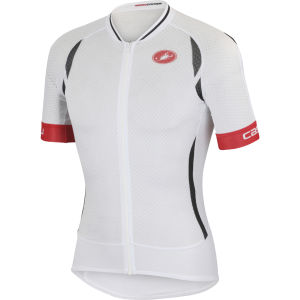 Castelli Climber's 2.0 Full Zip Jersey - White/Black