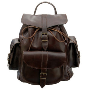 Grafea Show Business Medium Leather Rucksack - Brown