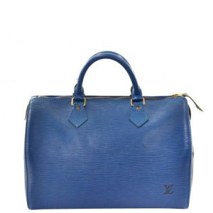 Louis Vuitton Vintage Blue Epi Leather Speedy 25 Bag