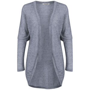 Moku Women's Melange Knitted Cardigan - Blue