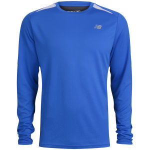 New Balance Men's Momentum Long Sleeve T-Shirt - Vision Blue