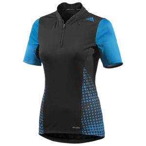 Adidas Trial Short Sleeve Jersey - Black/Solar Blue