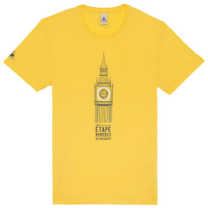 Le Coq Sportif Tour de France N14 Short Sleeved T-Shirt - Yellow
