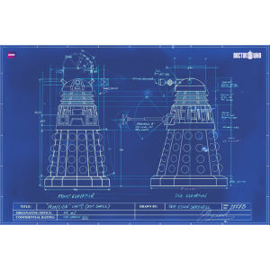 Doctor Who Dalek Blueprint - Maxi Poster - 61 x 91.5cm