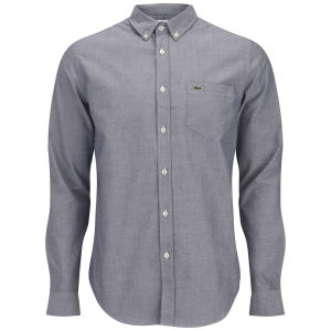Lacoste Men's Long Sleeve Oxford Shirt - Naval Blue