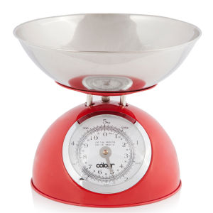 Cook In Colour 5kg Dome Kitchen Scales - Red