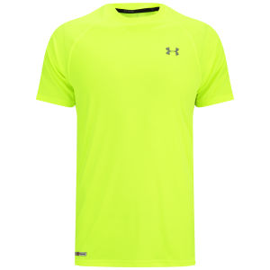 Under Armour Men's HeatGear Flyweight Run Short Sleeve Top - High-Vis Yellow