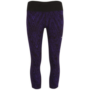 Nike Women's Printed Epic Run Running Cropped Pants - Court Purple