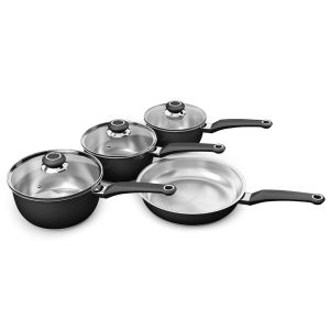 Morphy Richards Equip 4 Piece Pan Set - Black