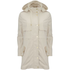 Vero Moda Women's Magnolia hooded Parka Jacket - Oatmeal