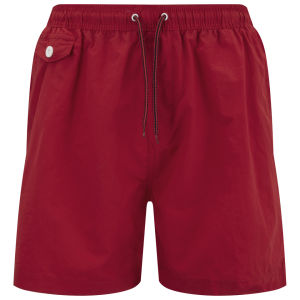 Brave Soul Men's Cafu Swim Shorts - Red