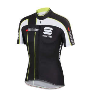 Sportful Gruppetto Pro Team Short Sleeve Jersey - Black/White/Yellow