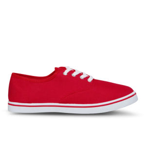 Love Sole Women's Classic Canvas Trainers - Red