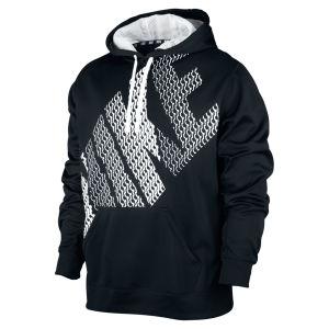 Nike Men's KO Block Logo Hoodie - Black