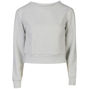 Glamorous Women's Crop Sweatshirt - Light Grey