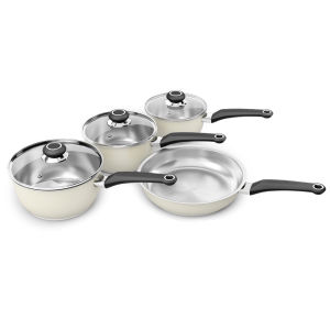 Morphy Richards Equip 4 Piece Pan Set - Cream