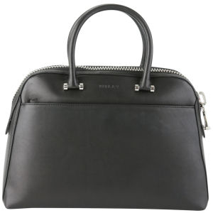 MILLY Blake Medium Kettle Leather Tote Bag - Black